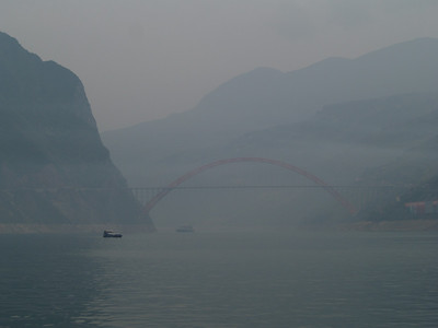 China. Scenes from the Yangtze river. Lesser Three Gorges.