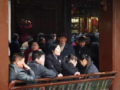 China. Old Shanghai. People watching.