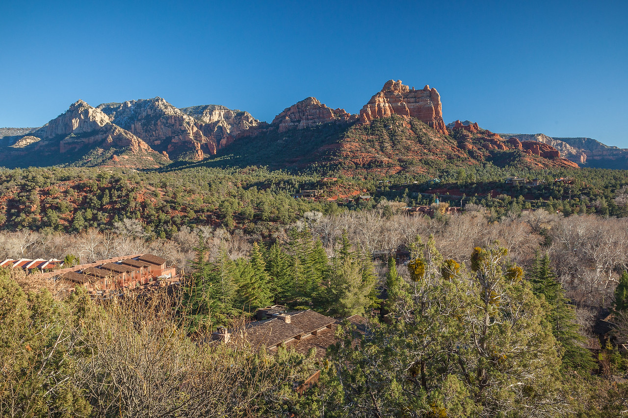 VIEW FROM CONDO BALCONY IN SEDONA, ARIZONA