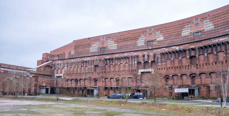 Built by Hitler as a stadium for rallies. Planned to hold thousands.