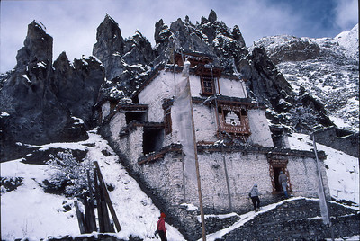 Braga Monastery, near Manang, on the Annapurna Circuit trail, just before we started to climb Chulu East