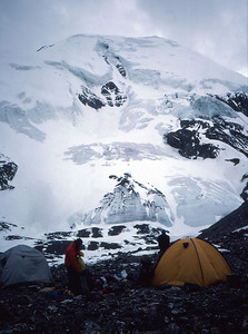 Camp on the Thorung La, below Thorung Peak