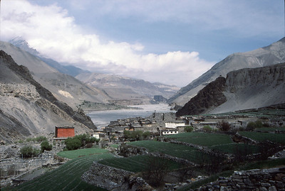 Kagbeni and the Kali Gandaki Valley, looking north towards the kingdom of Mustang and Tibet. Kagbeni was a beautiful oasis after out trials and tribulations up high.