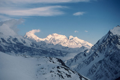 Manaslu, one of the world's 8000metre peaks, from above Chulu East high camp