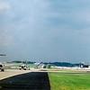 Pojíždění na start na letišti v Atlantě.