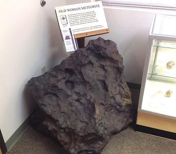 Replica of meteorite in Needles BLM office