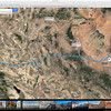 Route to Pagosa Springs.  Side trip to Sedona to/from Flagstaff not shown.