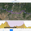 Elevation profile for Mesa Verde to Pagosa Springs.  For each leg of trip I would paste post-it to dash with my predicted RM for key points, such as passes.
