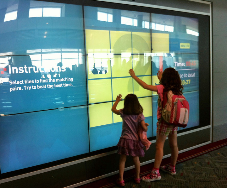 Touch game at Denver Airport