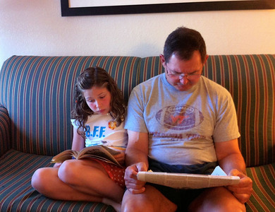 Reading with Papa
