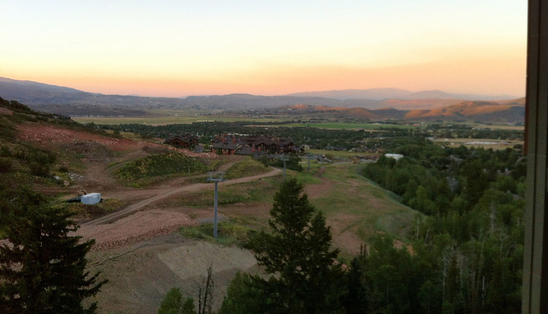 View from our room in Park City