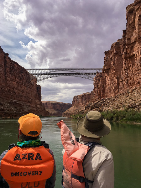 PASSING UNDER THE NAVAJO BRIDGES