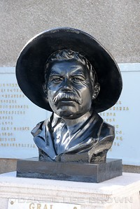 PANCHO VILLA'S  BUST AT HIS HOME AND MUSEUM