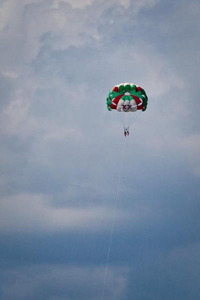 KENDALL AND SUNNY PARASAILING IN COZUMEL, MEXICO
