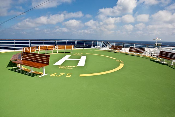 HELIPAD ON THE BOW