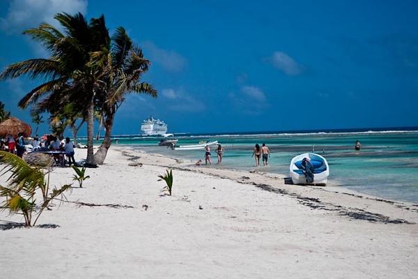 BEACH AT COSTA MAYA, MEXICO