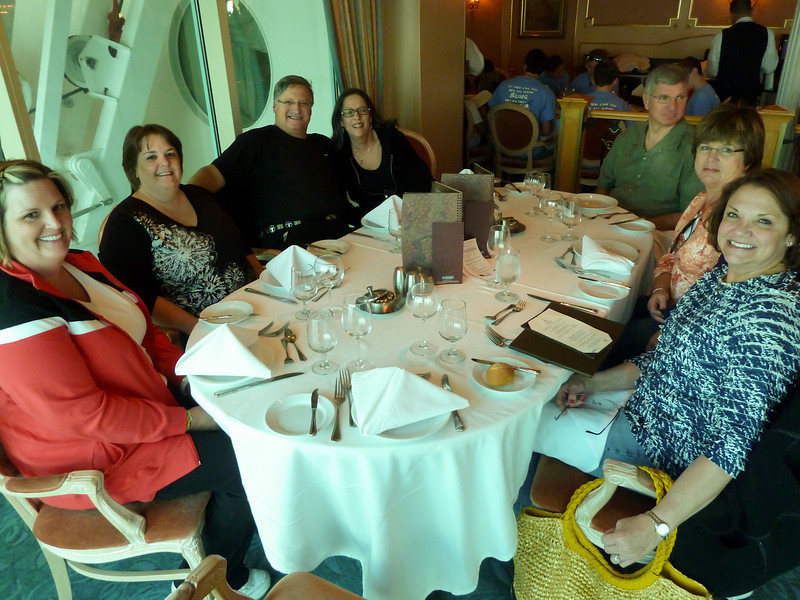 """DINING IN THE """"MAGIC FLUTE"""" DINING ROOM ON THE VOYAGER OF THE SEAS"""