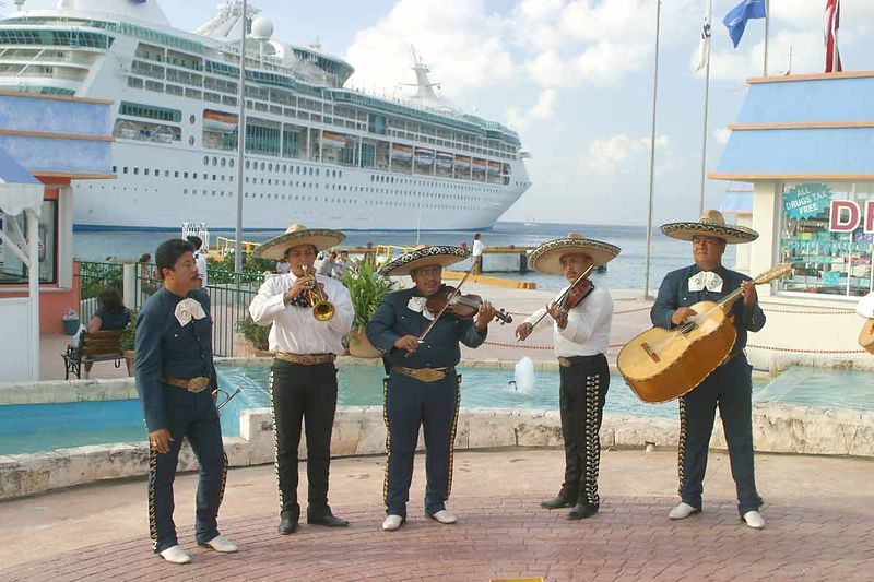 MARIACHIS AT COZUMEL PIER