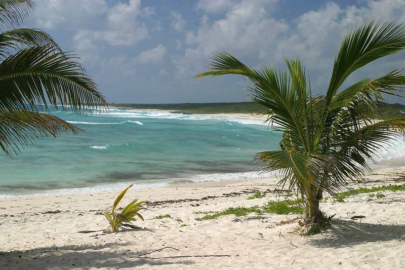 BEACH ON EAST SIDE OF COZUMEL
