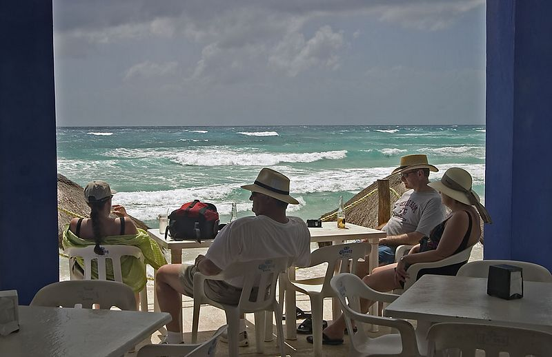 RELAXING AT PLAYA BONITA-COZUMEL