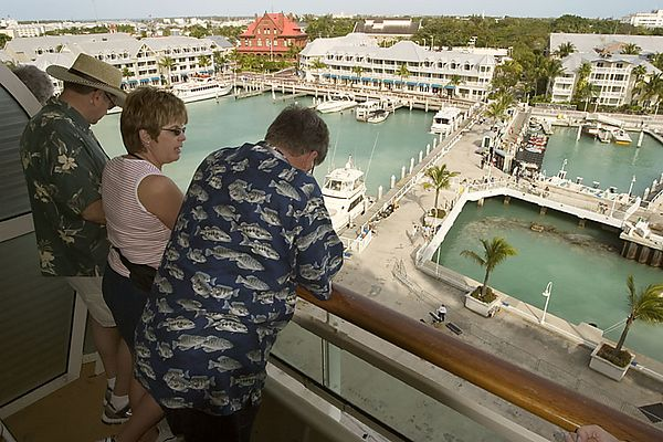 DOCKING AT KEY WEST AS SEEN FROM DECK 7 BALCONY