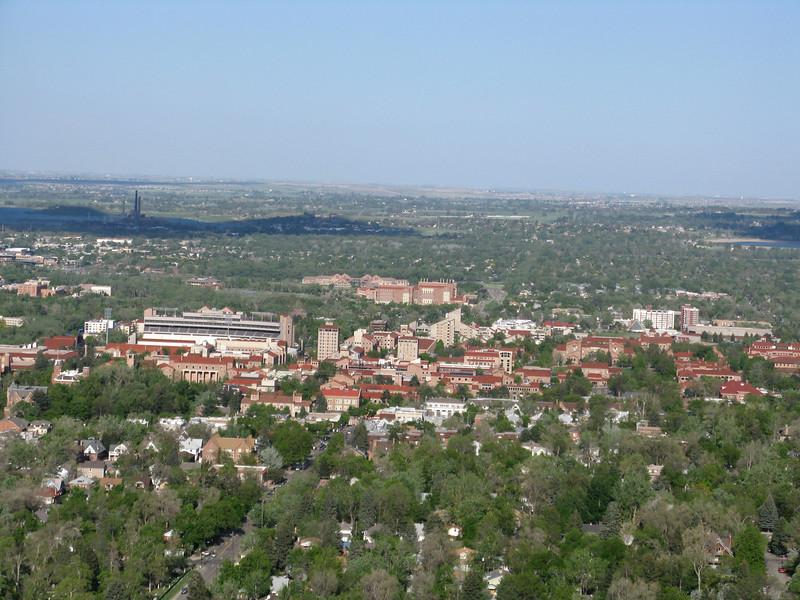 Close up of the CU campus.