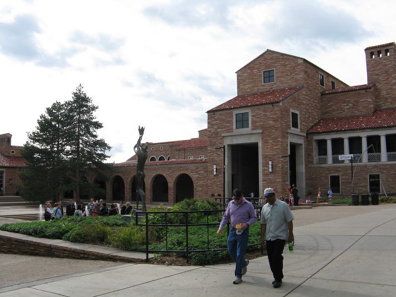 Looking back at the UMC building. Lots of sculptures and artwork on campus.