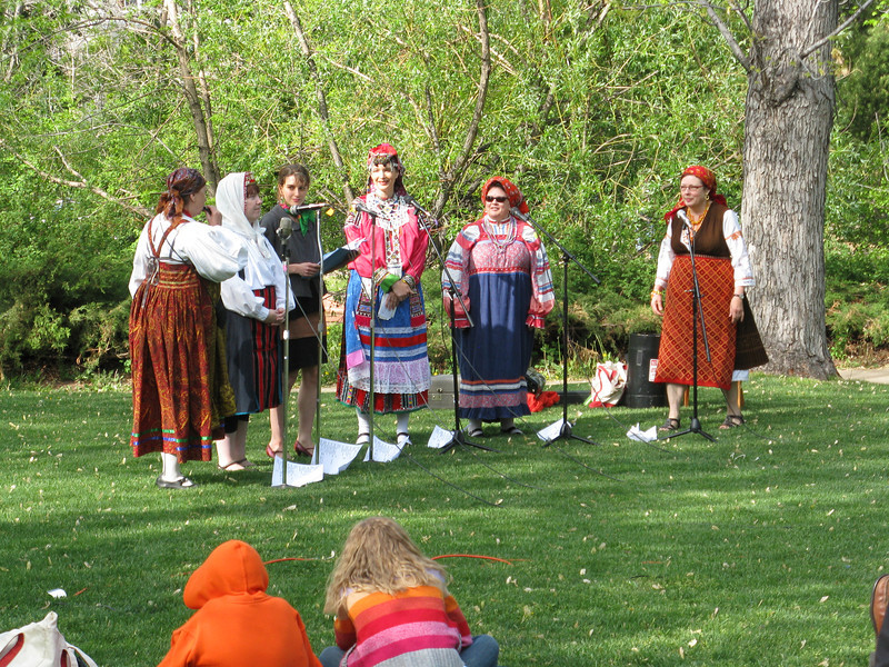 At the other end of the campus was some sort of party with ethnic music and singing.