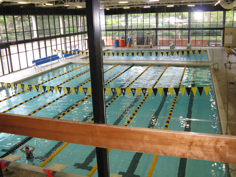 We went inside the campus athletic facilities that all students have access to. Indoor pool.