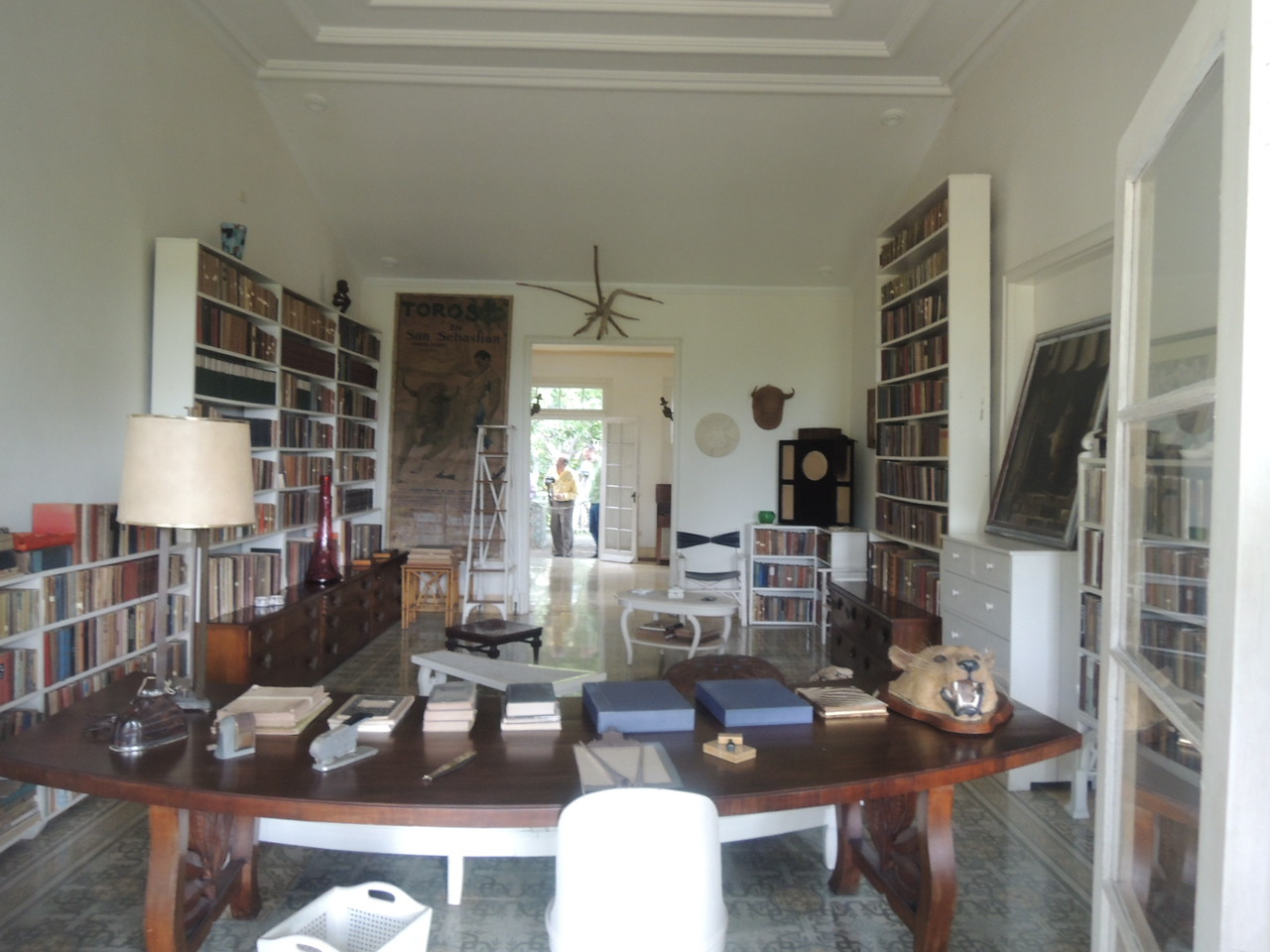 Hemingway's library.  The bull on the back wall is a Picasso.