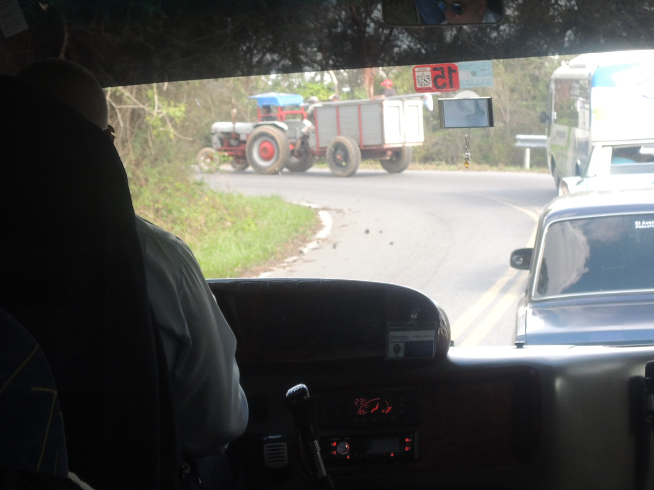 This tractor added many minutes to our travel through the hills.