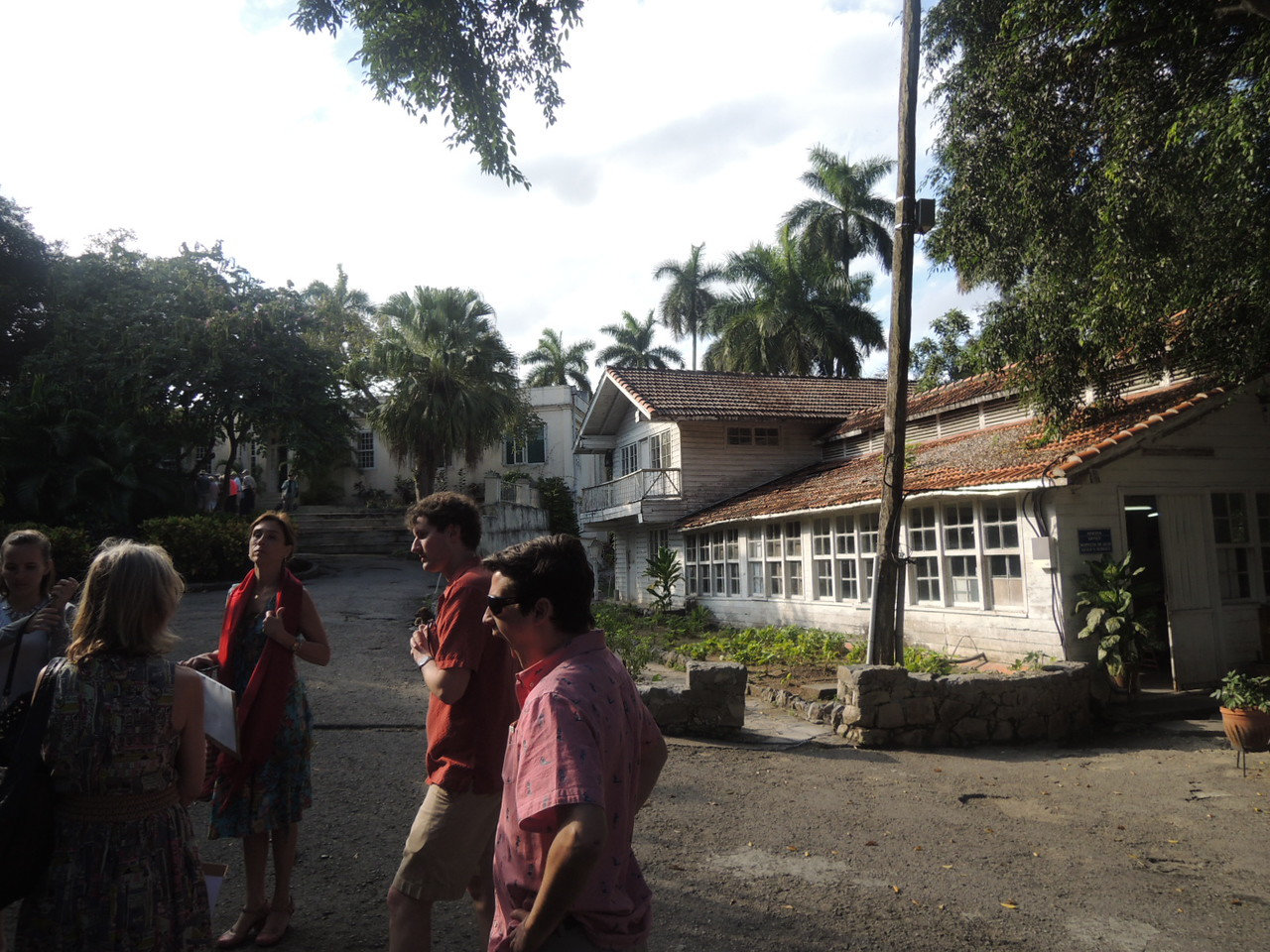 Here we are at Ernest Hemingway's farm.  He bought it in the late 1930's and wrote some of his novels here.  He gave it to the Cuban people after the revolution.