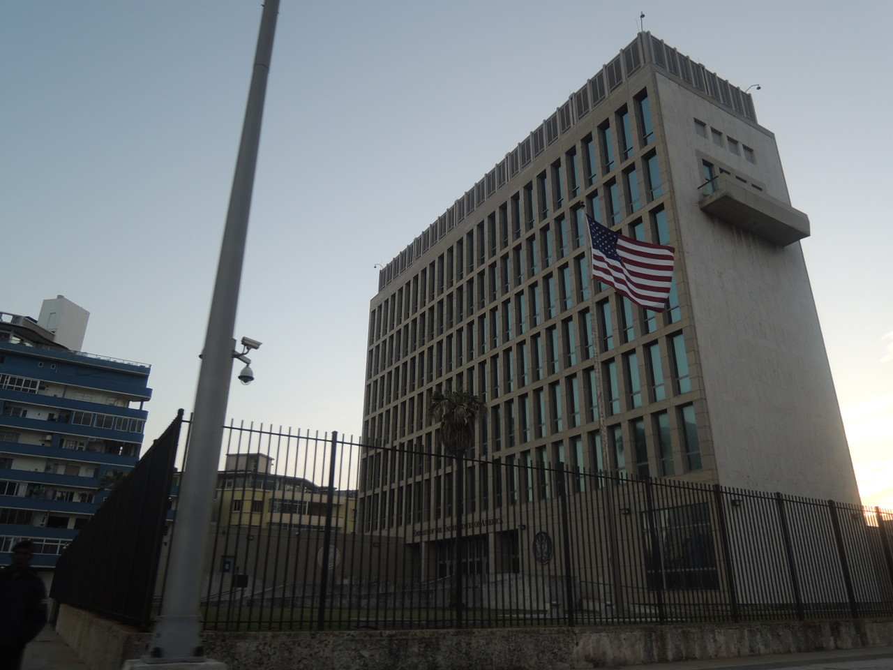 The newly opened American Embassy.