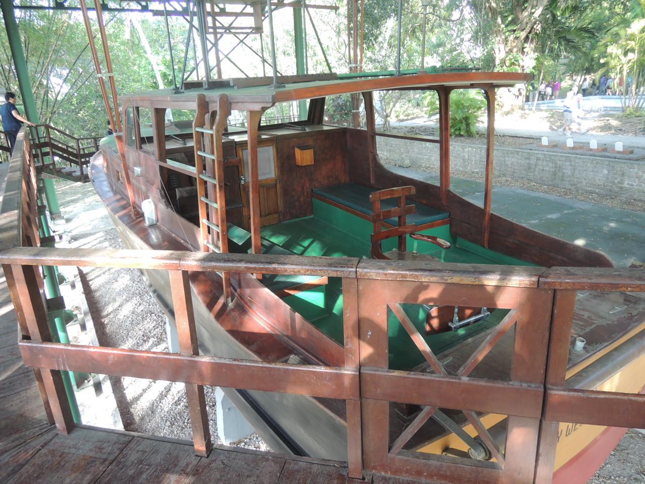 """Hemingway's fishing boat """"Pilar"""", a 38 foot Wheeler built in Brooklyn.  He bought it in 1934."""