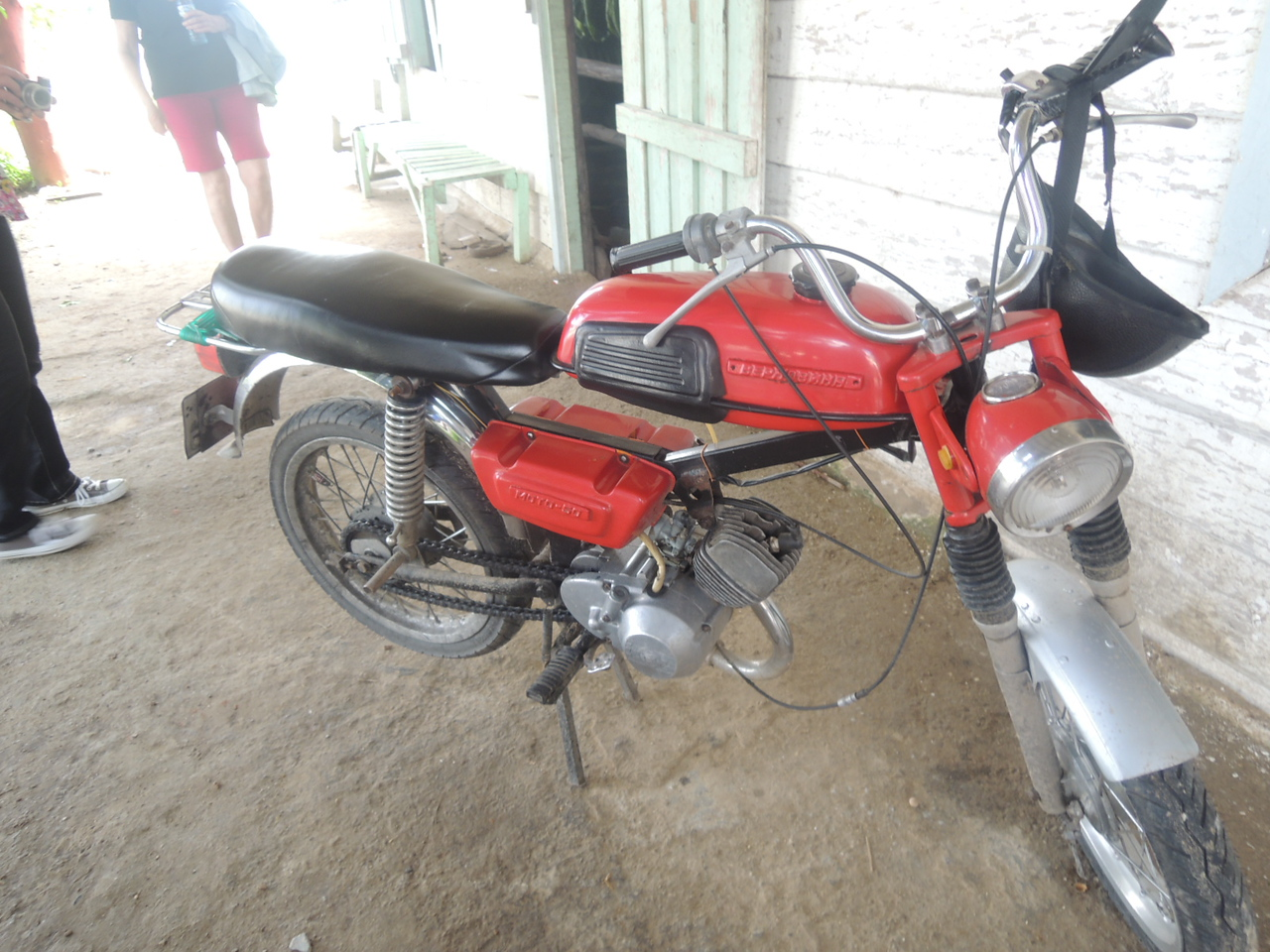 There were a couple of these motorbikes at the tobacco farm.  I have no idea what they were.