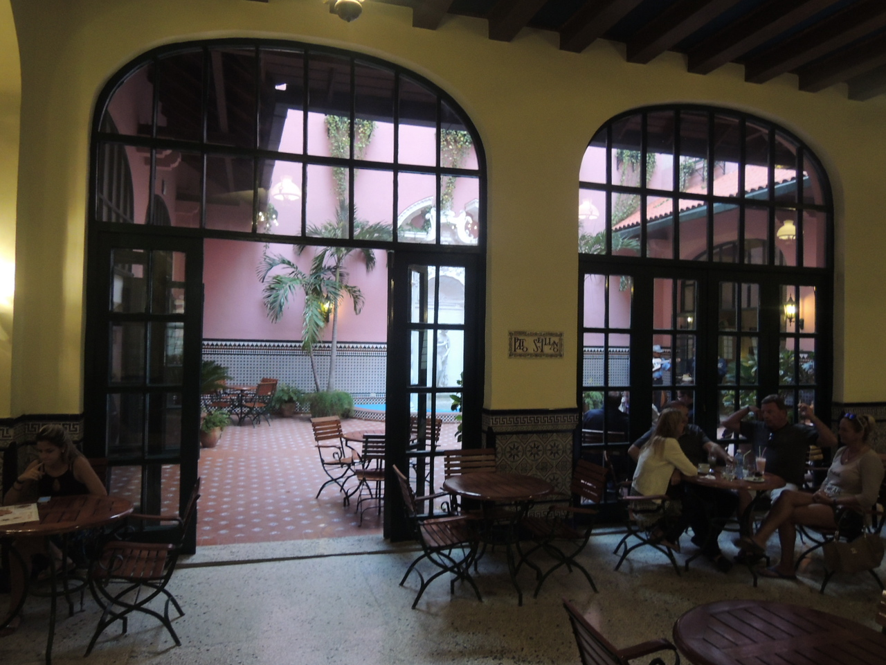 Just off the lobby at the hotel was a very sweet courtyard.  There were often live music groups performing out there.