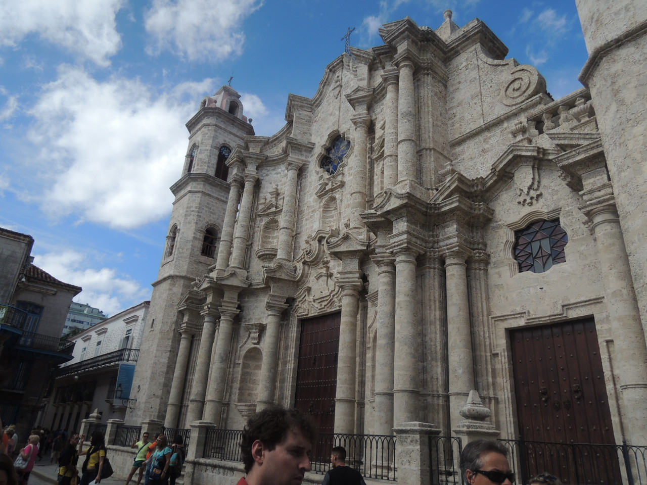 Havana Cathedral.  It is usually open in the morning, but we got there too late to go inside.