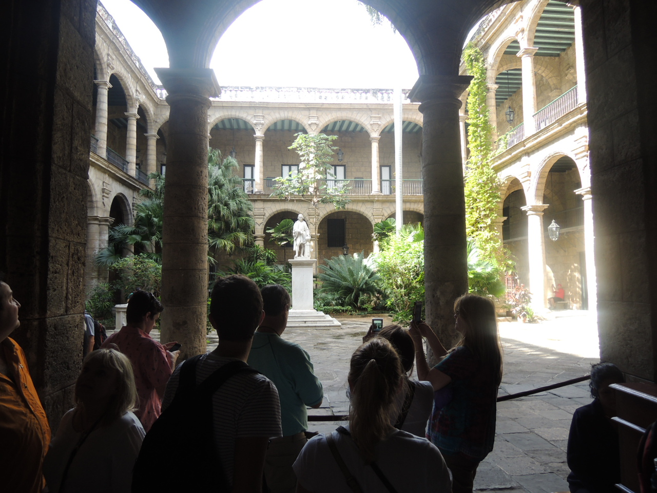 The inner courtyard of an old mansion.  Quite lovely!