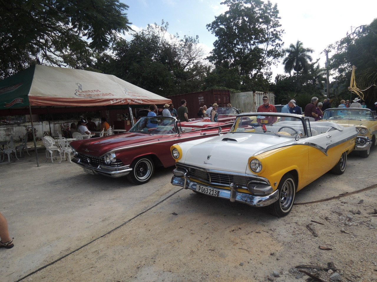 It was like a car show a the farm.  I later rode in the burgandy Buick.