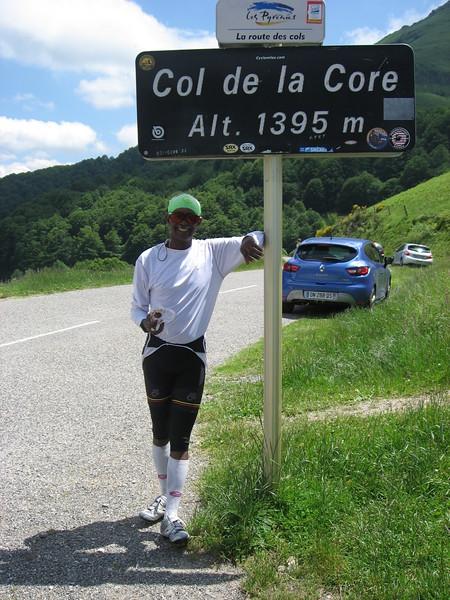 Mesfin at Col de la Core.