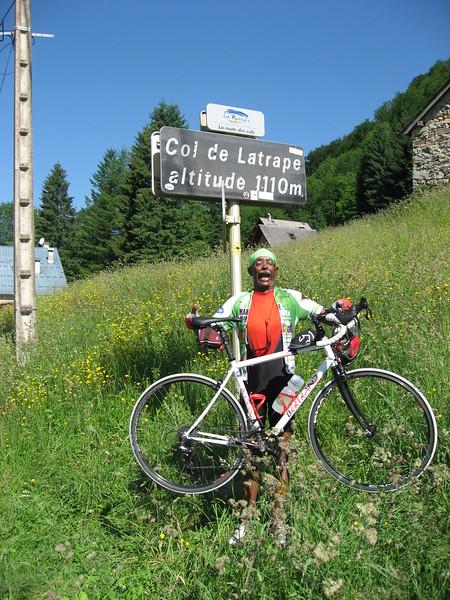 Mesfin at Col de Latrape.