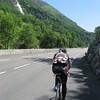 Dave riding through Gorge de Luz.