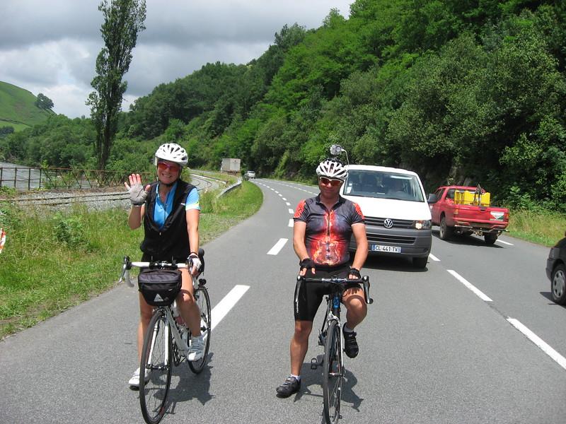 Sue & Don on D918 near St-Martin-d'Arrossa.