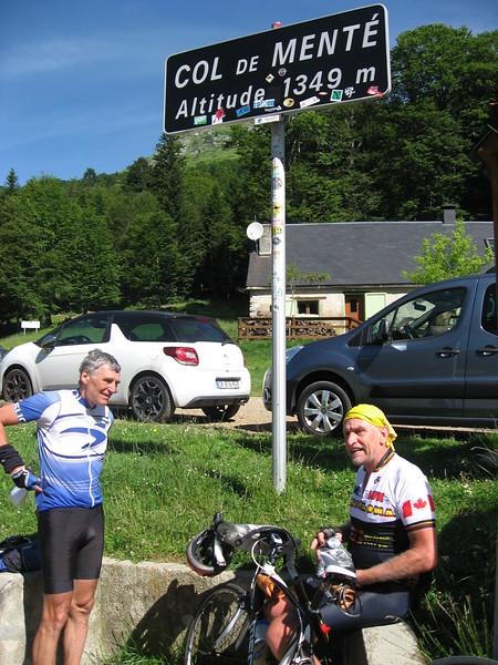Werner & Barry at Col de Menté.