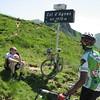 Dave & Mesfin at Col d'Agnes.