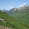 Road & valley near Col du Tourmalet.
