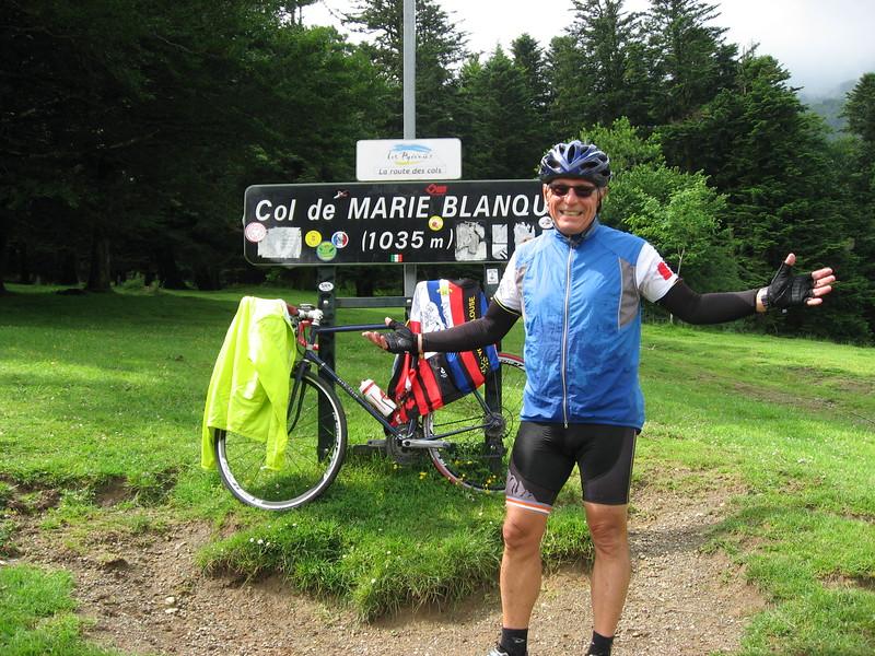 Michael at Col de Marie-Blanque.