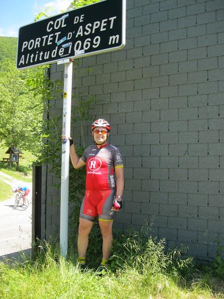 Tom at Col de Portet-d'Aspet.