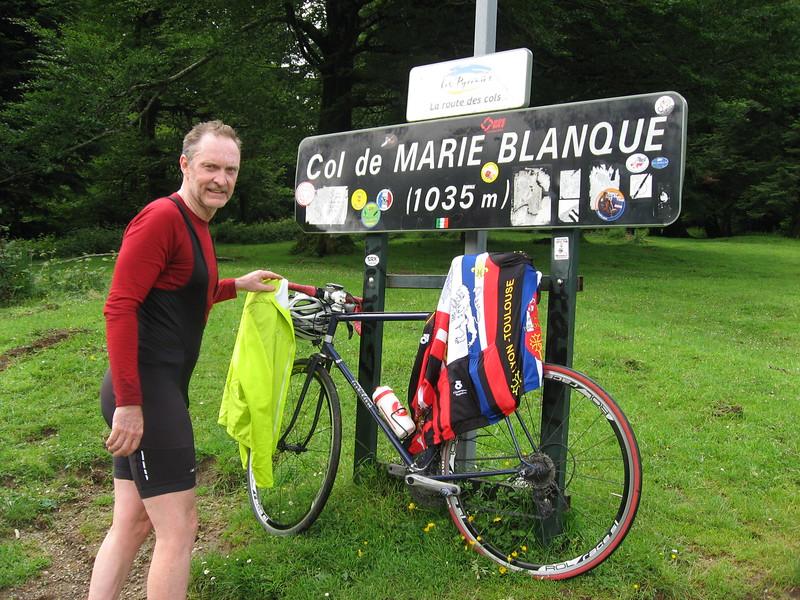 Dave at Col de Marie-Blanque.