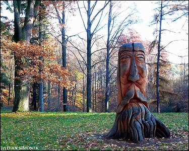 """CARVED STUMP1"", Czech Paradise, Czech Republic."